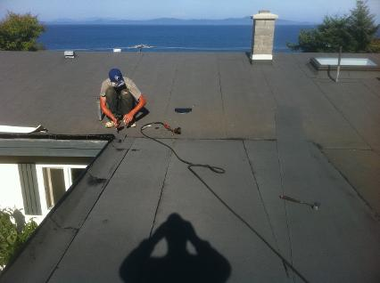 flat roof patch torch on Victoria, BC