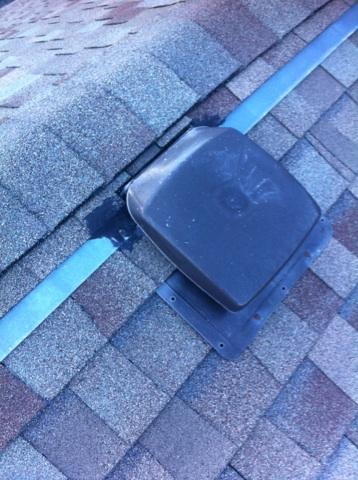 bad roof vent install Duncan, B.C,